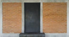 Dark grey door Stock Image