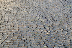 Dark grey flag-stone pavement Royalty Free Stock Photography