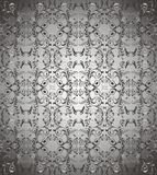 Dark grey floral background vector Stock Images