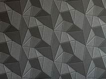 Dark grey geometric 3d texture wallpaper. Royalty Free Stock Photo
