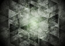 Dark grey geometry grunge background Stock Images