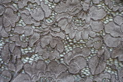 Dark grey guipure lacy fabric from above Royalty Free Stock Photo