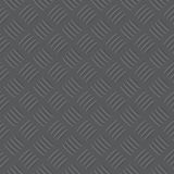 Dark grey iron checker plate pattern illustration Royalty Free Stock Photos