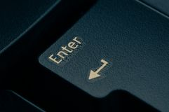 Dark grey keyboard empty black enter button stock images