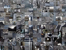 DARK GREY patchwork photomontage background Stock Photography