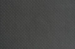 Dark Grey Perforated Artificial Leather Background Texture Stock Images