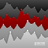Dark grey and red graph design for workflow layout Stock Photos