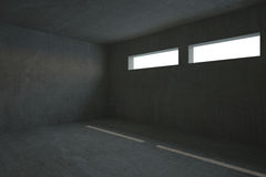 Dark grey room Stock Image
