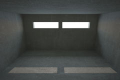 Dark grey room Royalty Free Stock Photo