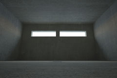Dark grey room Stock Photography
