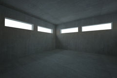 Dark grey room Royalty Free Stock Photography