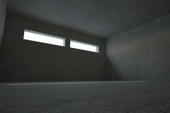 Dark grey room Royalty Free Stock Image