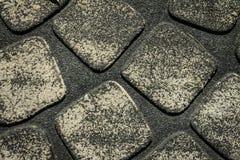 Dark grey rubber mat. stock photo