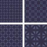 Dark grey seamless pattern background set. Dark grey vintage seamless pattern background set Stock Photo