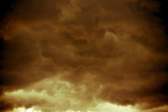 Dark Grey Storm Clouds Filtered stock photography