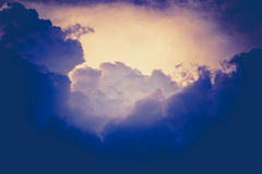 Dark Grey Stormy Clouds Filtered. Dramatic stormy dark sky clouds before rain, filtered natural background Royalty Free Stock Images