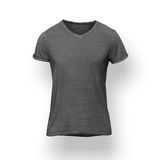 Dark grey t-shirt isolated on white background Royalty Free Stock Photos