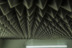 Dark grey triangular texture acoustic foam rubber. Dark grey triangular texture acoustic Royalty Free Stock Photo