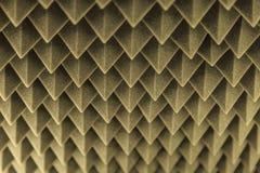 Dark grey triangular texture acoustic foam rubber. Triangular texture acoustic foam rubber Royalty Free Stock Image