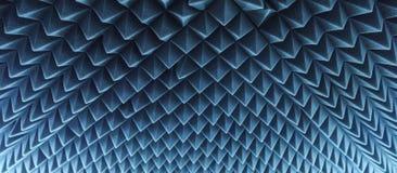 Dark grey triangular texture acoustic foam rubber. In studio Royalty Free Stock Photos