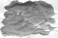 Dark grey watercolor background for wallpaper. Aquarelle color illustration.  stock illustration