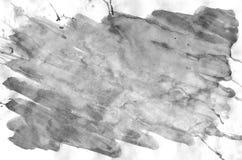 Dark grey watercolor background for wallpaper. Aquarelle color illustration.  royalty free illustration