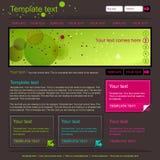 Dark grey webpage layout. Minimalistic dark grey and green web site layout design Stock Photos