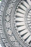 Dark grey wheel of life stone tile texture brick w Royalty Free Stock Image