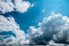 Dark, grey and white storm clouds before rain. Nature background royalty free stock photos
