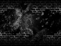 Dark Grunge Bricks Wall Royalty Free Stock Image