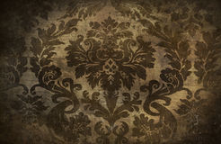 Dark grunge  damask background Royalty Free Stock Photo
