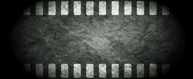 Dark grunge filmstrip abstract background Stock Image