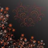 Dark grunge flower with heart Stock Photography