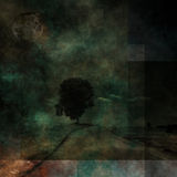 Dark grunge landscape abstract Royalty Free Stock Photography