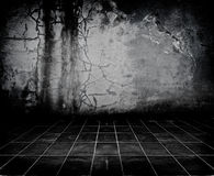 Dark Grunge Room. Digital background for studio photographers Royalty Free Stock Photo