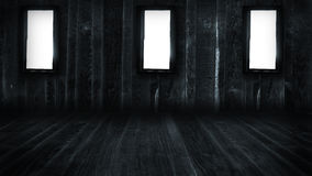 Dark Grunge Room Stock Photography
