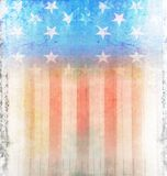 Dark Grunge US Flag Royalty Free Stock Photography