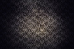 Dark Grunge Wall Background With Retro Pattern. And Black Vignette Royalty Free Stock Image