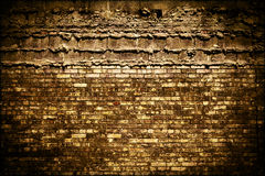 Dark Grungy Brick Background Texture Royalty Free Stock Images