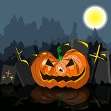 Dark grungy halloween background with orange scary Royalty Free Stock Photo