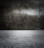 Dark grungy room. With light and shadow Royalty Free Stock Photography