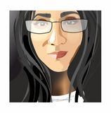 Dark hair girl with glasses Royalty Free Stock Photography