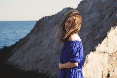 Dark hair girl`s portrait royalty free stock images