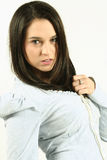 Dark Haired Female Royalty Free Stock Photography