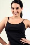 Dark Haired Fitness Girl Royalty Free Stock Image