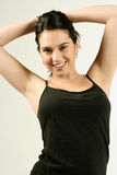 Dark Haired Fitness Girl Royalty Free Stock Photography