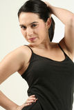 Dark Haired Fitness Girl Stock Image