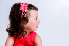 Dark haired girl royalty free stock photography