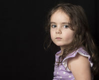 Dark Haired Toddler in Studio Royalty Free Stock Photography