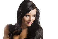 Dark haired woman Stock Images
